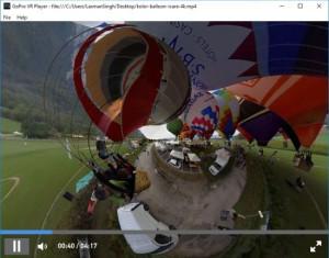 GoPro VR Player - náhled