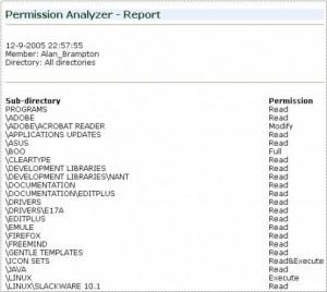 Permission Analyzer - náhled