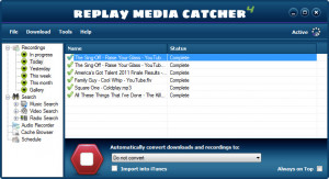 Replay Media Catcher - náhled