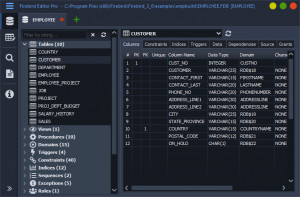 Firebird Editor Pro - náhled