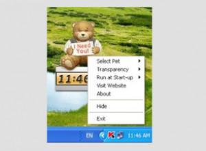 Desktop Pet Clock - náhled