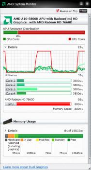 AMD System Monitor  - náhled