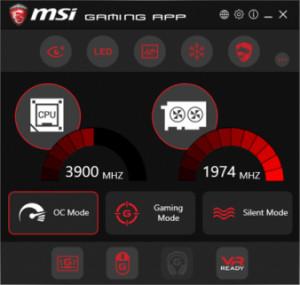 MSI Gaming App - náhled