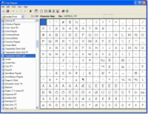 Barefoot Font Viewer - náhled