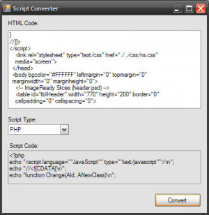 Script Converter - náhled