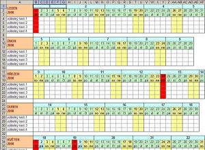 Plánovací kalendář - náhled