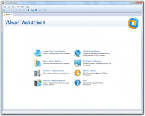 VMware Workstation - náhled