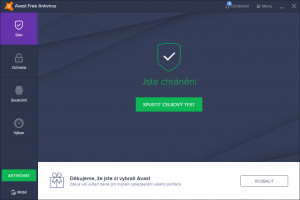 Avast Free Antivirus 2019 - náhled