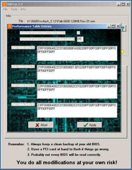NVIDIA BIOS Editor (NiBiTor) - náhled