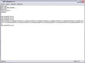 WPF Notepad - náhled
