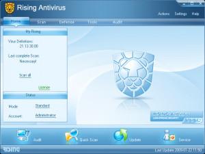 Rising Antivirus - náhled