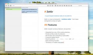 Zettlr - náhled