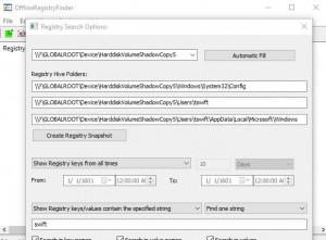 OfflineRegistryFinder - náhled