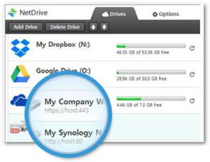NetDrive - náhled