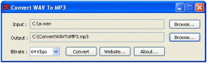 Convert WAV To MP3 - náhled