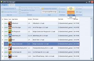 APK File Manager  - náhled