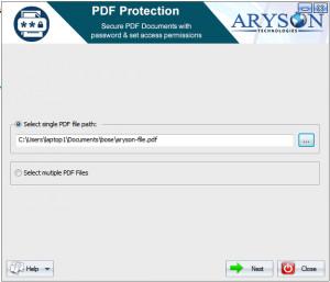 Aryson PDF Protection - náhled