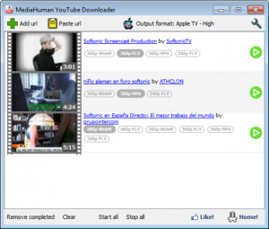 MediaHuman YouTube Downloader - náhled