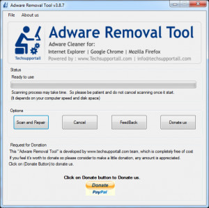 Adware Removal Tool - náhled