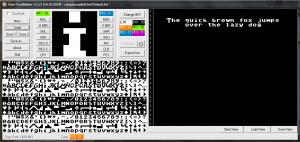 Atari FontMaker - náhled