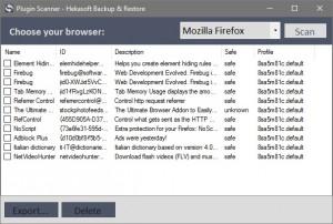 Hekasoft Backup & Restore - náhled