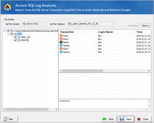 Aryson SQL Log Analyzer Tool - náhled