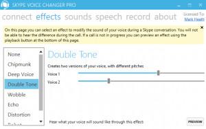 Skype Voice Changer Pro - náhled