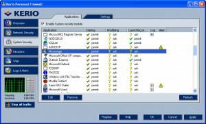 Sunbelt Personal Firewall - náhled
