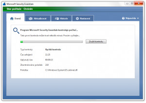 Microsoft Security Essentials - náhled