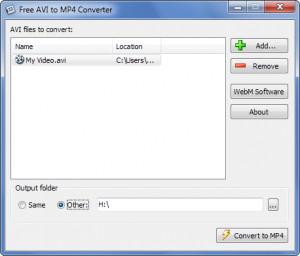 Free AVI to MP4 Converter - náhled