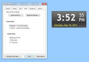 Effective DesktopClock - náhled