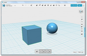 Autodesk 123D Design - náhled