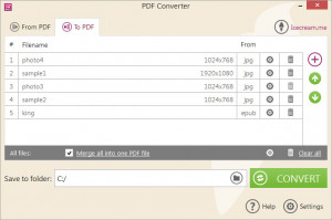 Icecream PDF Converter - náhled