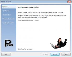 Presto Transfer Skype - náhled