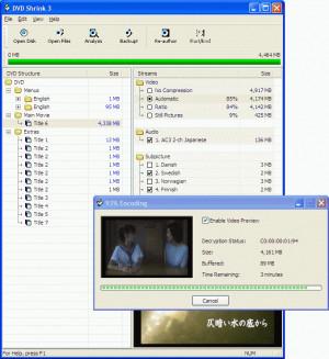 DVD Shrink - náhled