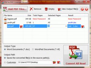 PDF to DOC - náhled