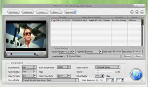 WinX Free DVD to AVI Ripper - náhled