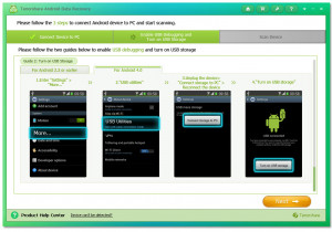 Android Data Recovery - náhled