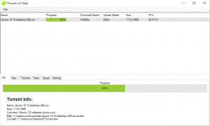 FTorrent - náhled