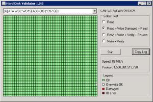 Hard Disk Validator - náhled