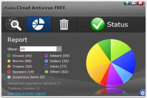Panda Cloud Antivirus - náhled