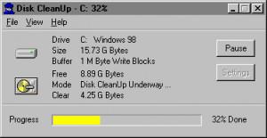 Disk CleanUp 2000 - náhled