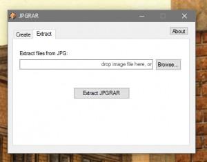 JPGRAR Create/Extract - náhled