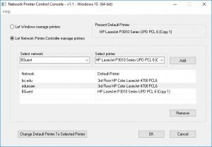 Network Printer Control - náhled