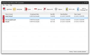 BlueFox Free PDF to TIFF Converter - náhled