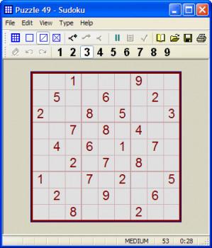 Sudoku - náhled