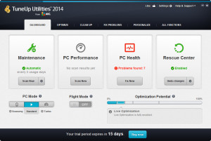 TuneUp Utilities 2014 - náhled