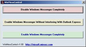 WinMessControl - náhled