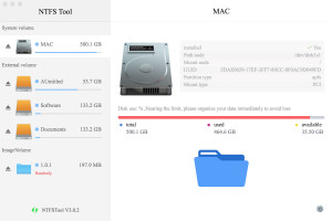 NTFS Tool - náhled