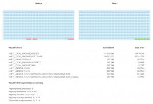 Ainvo Registry Defrag - náhled